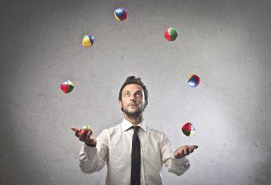 Lernen Sie jonglieren